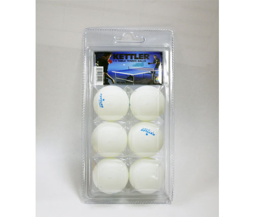 Kettler #1 Star Balls (white) - 6 pack (7221-100)