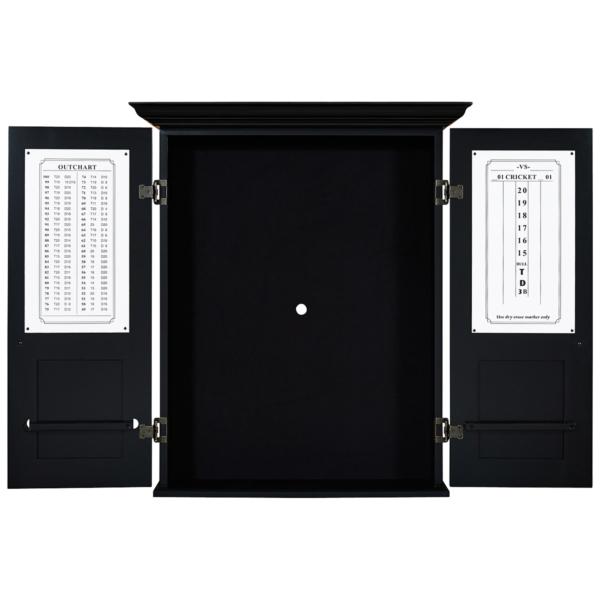 Rustic Black Cappuccino Dart Cabinet